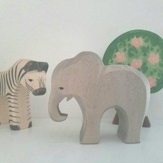 入荷!Elephant child eating
