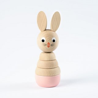 Sarah and Bendrix Madeleine - Pink Wooden Rabbit Stacking Toy