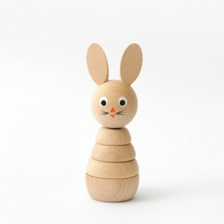 Sarah and Bendrix Henrietta - Wooden Rabbit Stacking Toy