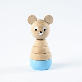 Sarah and Bendrix Edward - Wooden Stacking Bear(blue)