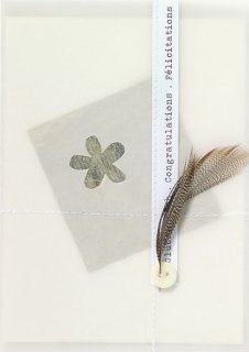RADER feather card flower