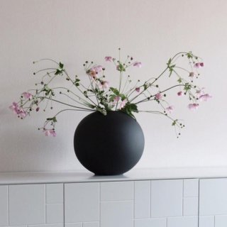 Cooee Design  Ball Vase 20cm black