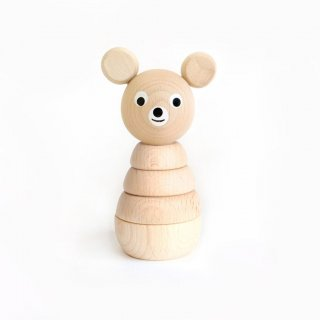 <img class='new_mark_img1' src='//img.shop-pro.jp/img/new/icons14.gif' style='border:none;display:inline;margin:0px;padding:0px;width:auto;' />Sarah and Bendrix - Wooden Stacking Bear(natutral)