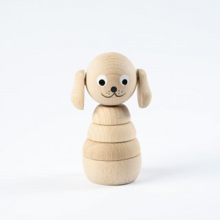 <img class='new_mark_img1' src='//img.shop-pro.jp/img/new/icons14.gif' style='border:none;display:inline;margin:0px;padding:0px;width:auto;' />Sarah and Bendrix  Wooden Dog Stacking Toy (natutal)