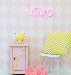 A little lovely company  Neon style light: Love - pink
