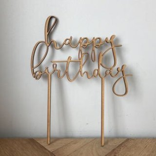 <img class='new_mark_img1' src='https://img.shop-pro.jp/img/new/icons14.gif' style='border:none;display:inline;margin:0px;padding:0px;width:auto;' />& MERCI Cake Topper  (Happy Birthday)