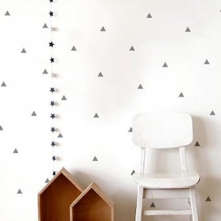 Triangle GRAY WALL Sticker