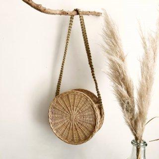 Straw Round Shoulder basket (P) From Latvia