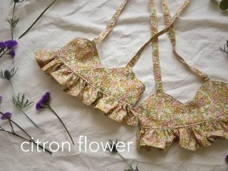 musique  swim wear citron flower(同封不可商品)