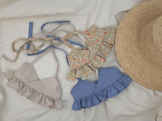 <img class='new_mark_img1' src='https://img.shop-pro.jp/img/new/icons14.gif' style='border:none;display:inline;margin:0px;padding:0px;width:auto;' />musique  swim wear beige check(同封不可商品)