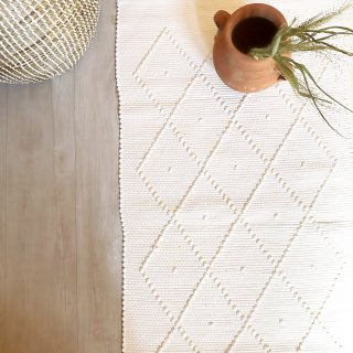 mikanu cotton mini  rug (single dot)