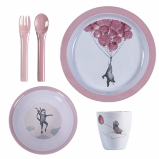 【入荷!】sebra melamin Dinner set 4pcs sky   From Denmark