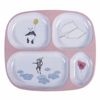 【ローズ(RO)入荷!】sebra melamin plate 4 room sky   From Denmark