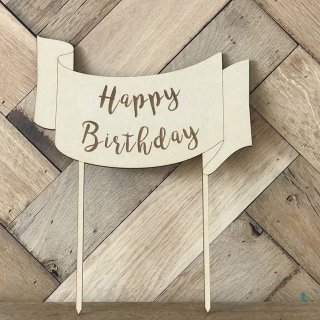 <img class='new_mark_img1' src='https://img.shop-pro.jp/img/new/icons14.gif' style='border:none;display:inline;margin:0px;padding:0px;width:auto;' />& MERCI Cake Topper RIBBON (Happy Birthday)
