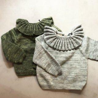 Kalinka kids luna sweater (moss&ceradon) 13900→9730