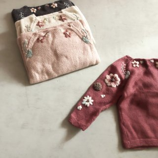<img class='new_mark_img1' src='//img.shop-pro.jp/img/new/icons14.gif' style='border:none;display:inline;margin:0px;padding:0px;width:auto;' />Shirley Bredal flower sweater  (4color)