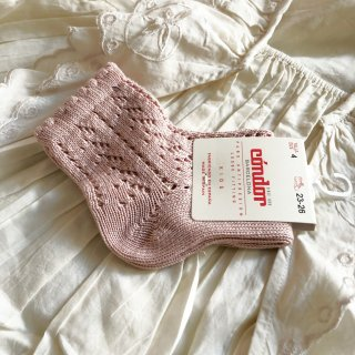<img class='new_mark_img1' src='https://img.shop-pro.jp/img/new/icons14.gif' style='border:none;display:inline;margin:0px;padding:0px;width:auto;' />Condor pearl open croche short sox (544pale rose)