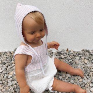 liilu knit combi romper (pale pink)