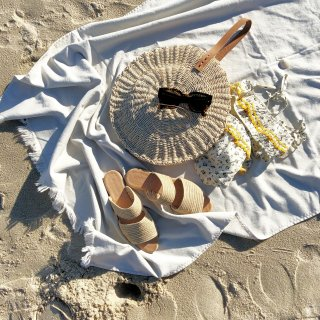 <img class='new_mark_img1' src='//img.shop-pro.jp/img/new/icons14.gif' style='border:none;display:inline;margin:0px;padding:0px;width:auto;' />The Beach people leather hand  Round Panier From Byronbay