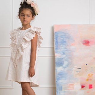 <img class='new_mark_img1' src='https://img.shop-pro.jp/img/new/icons14.gif' style='border:none;display:inline;margin:0px;padding:0px;width:auto;' />petitAmalie FRILLY LINEN DRESS(pale pink)