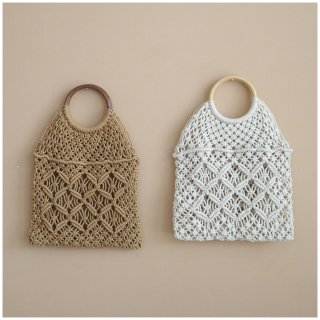 <img class='new_mark_img1' src='https://img.shop-pro.jp/img/new/icons14.gif' style='border:none;display:inline;margin:0px;padding:0px;width:auto;' /> mikanu handmade crochet bag with woodhandle