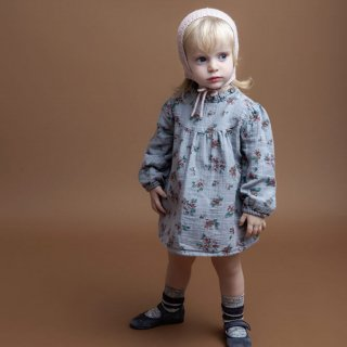 <img class='new_mark_img1' src='//img.shop-pro.jp/img/new/icons14.gif' style='border:none;display:inline;margin:0px;padding:0px;width:auto;' />tocotovintage  baby Flower print  dress (pale gray)