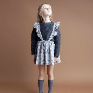 <img class='new_mark_img1' src='https://img.shop-pro.jp/img/new/icons20.gif' style='border:none;display:inline;margin:0px;padding:0px;width:auto;' />SALE!!! tocotovintage  KIDS Flower print skirt(pale gray)