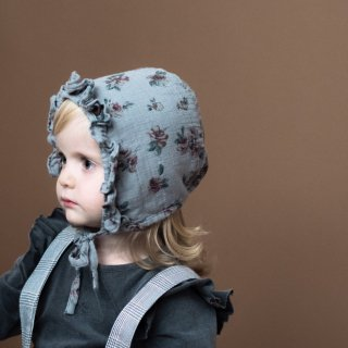 tocotovintage  KIDS Flower print bonnet