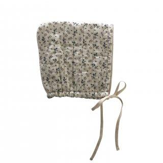 liilu quilted bonnet (floral) ※liilu original print