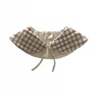 liilu quilted collar (check)※liilu original print
