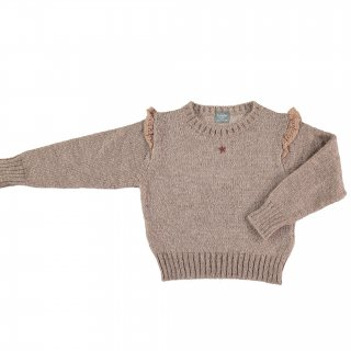 <img class='new_mark_img1' src='https://img.shop-pro.jp/img/new/icons20.gif' style='border:none;display:inline;margin:0px;padding:0px;width:auto;' />SALE!!!tocotovintage frilled knitted sweater(beigebrown)