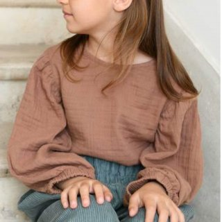 <img class='new_mark_img1' src='https://img.shop-pro.jp/img/new/icons14.gif' style='border:none;display:inline;margin:0px;padding:0px;width:auto;' />Minimom  tulip balloon blouse (bronze)