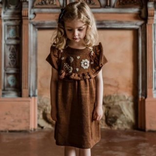 <img class='new_mark_img1' src='https://img.shop-pro.jp/img/new/icons14.gif' style='border:none;display:inline;margin:0px;padding:0px;width:auto;' />Shirley Bredal flower dress  (caramel)