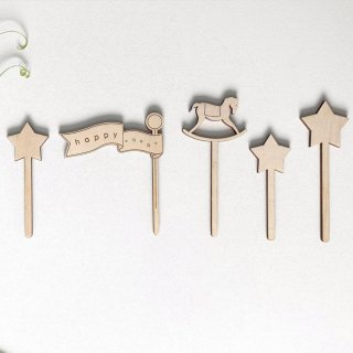 <img class='new_mark_img1' src='https://img.shop-pro.jp/img/new/icons14.gif' style='border:none;display:inline;margin:0px;padding:0px;width:auto;' />TRNE  cake topper  (happy)丸木箱付き