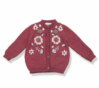 <img class='new_mark_img1' src='https://img.shop-pro.jp/img/new/icons14.gif' style='border:none;display:inline;margin:0px;padding:0px;width:auto;' />Shirley Bredal flowercardigan  (berry)