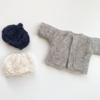 <img class='new_mark_img1' src='//img.shop-pro.jp/img/new/icons14.gif' style='border:none;display:inline;margin:0px;padding:0px;width:auto;' />MINI happy doll coatjacket or knit hat