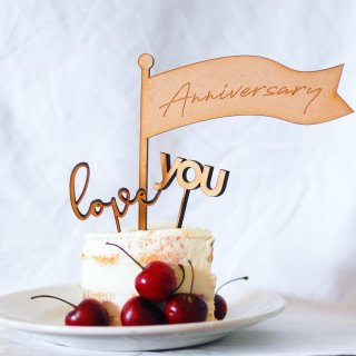 <img class='new_mark_img1' src='//img.shop-pro.jp/img/new/icons14.gif' style='border:none;display:inline;margin:0px;padding:0px;width:auto;' />新作!!!& MERCI Cake Topper  (Anniversary set)