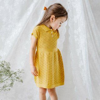 <img class='new_mark_img1' src='//img.shop-pro.jp/img/new/icons14.gif' style='border:none;display:inline;margin:0px;padding:0px;width:auto;' />HAPPY OLOGY cordelia knitted dress(mustard) 即納