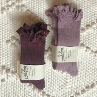 <img class='new_mark_img1' src='https://img.shop-pro.jp/img/new/icons14.gif' style='border:none;display:inline;margin:0px;padding:0px;width:auto;' />Collegien frilled lace High Sox