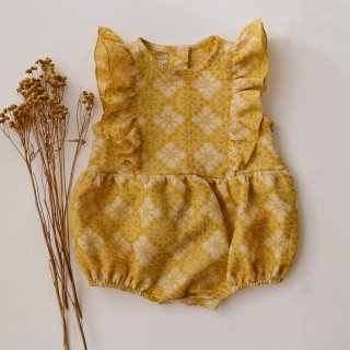 4月末入荷予定  ruffle bubble playsuit (marigold)