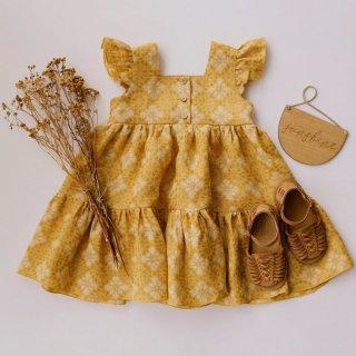 3月末入荷予定  front button tiared dress (marigold)