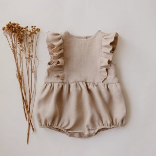 4月末入荷予定  ruffle bubble playsuit (natural)