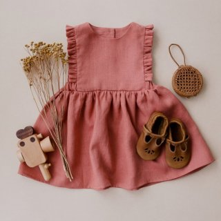 10月末入荷予定  ruffle pinfore dress(rose smoke)