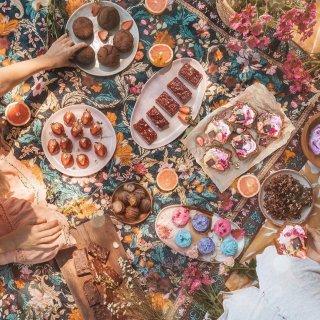 11月入荷予定ご予約受付中 送料無料!picnic rug from Australia (emarald  forest)