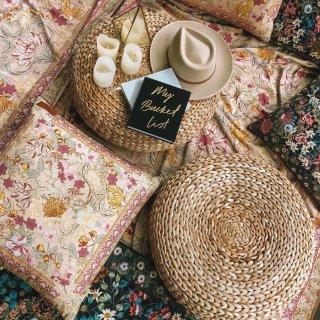 picnic  cushion cover from Australia (pastel cream)