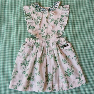 <img class='new_mark_img1' src='https://img.shop-pro.jp/img/new/icons14.gif' style='border:none;display:inline;margin:0px;padding:0px;width:auto;' />Bonjour diary apron dress (green check/pink flower embroidary)