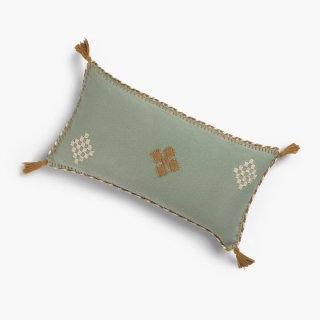 <img class='new_mark_img1' src='https://img.shop-pro.jp/img/new/icons14.gif' style='border:none;display:inline;margin:0px;padding:0px;width:auto;' />Cushion cover KELTI green From spain 30x60cm