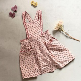 <img class='new_mark_img1' src='https://img.shop-pro.jp/img/new/icons14.gif' style='border:none;display:inline;margin:0px;padding:0px;width:auto;' />CARAMEL baby&child   Goose Pinfore (peach small floral) KIDS