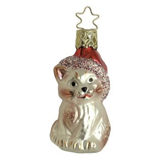 <img class='new_mark_img1' src='https://img.shop-pro.jp/img/new/icons14.gif' style='border:none;display:inline;margin:0px;padding:0px;width:auto;' />Kringle's Christmas Kitty Glass Ornament