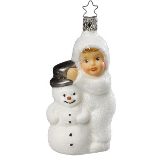 <img class='new_mark_img1' src='https://img.shop-pro.jp/img/new/icons14.gif' style='border:none;display:inline;margin:0px;padding:0px;width:auto;' />Kinder of Winter Fun (with snowman)glass Ornament